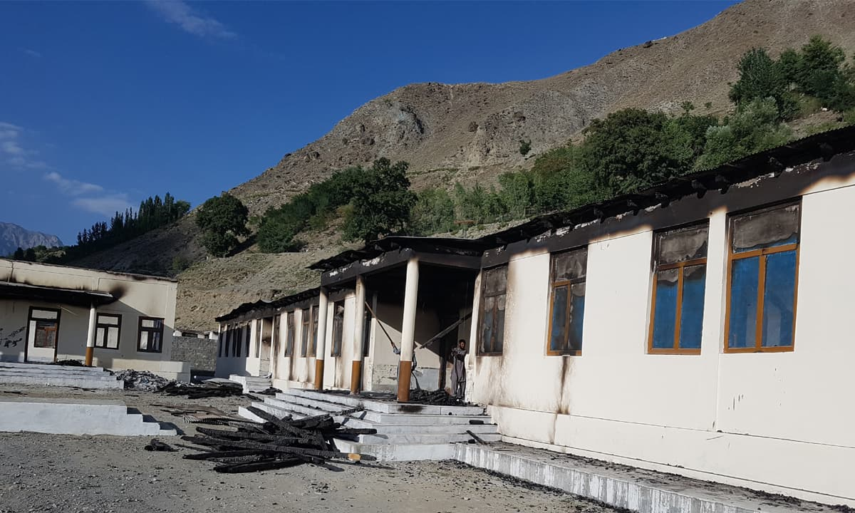 The Army Public School that the militants burnt in Darel valley in early August this year