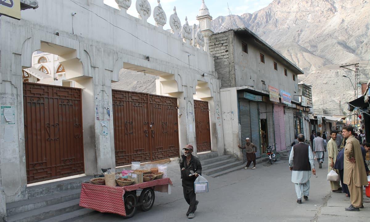 Markazi Jamia Masjid , the main Sunni mosque in Gilgit city