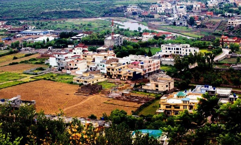اسلام آباد کے ایک رہائشی علاقے کا فضائی منظر — فوٹو، فائل