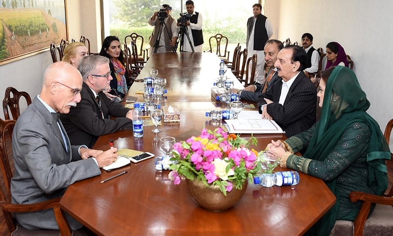 EU delegation meeting with PML-N leadership. —Photo provided by author
