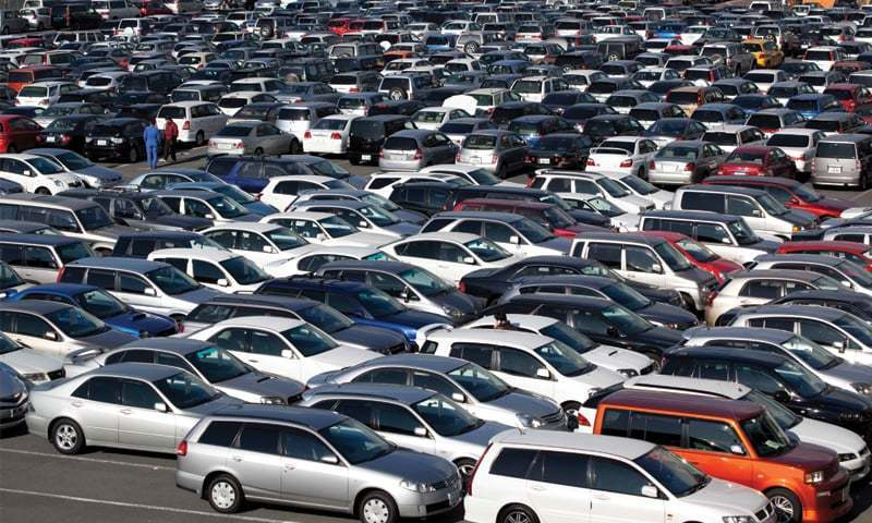 A large number of cars are seen parked in this file photo.