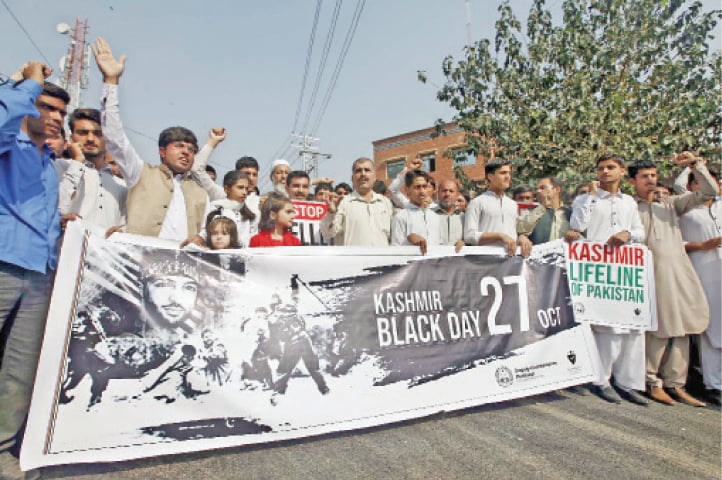 Black day observed against Indian occupation of Kashmir