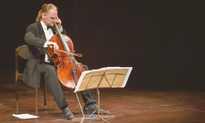 Frantisek Brikcius performs at the concert.—White Star