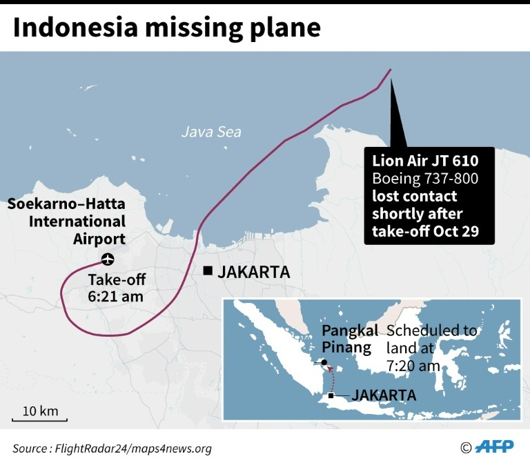 Indonesia plane missing.