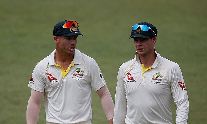 David Warner (L), Steve Smith (R) were banned for ball tampering. — Photo/File