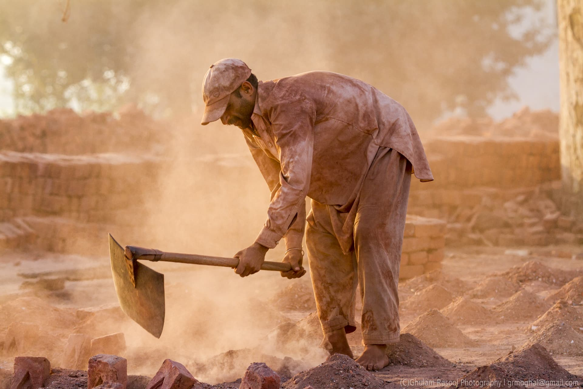 Nearly 2.3 million daily wage labourers work at the brick kilns (Image by: Ghulam Rasool)