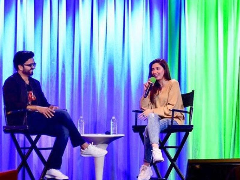 اداکارہ نے دورے کے دوران خصوصی بات بھی کی—فوٹو: ماہرہ خان انسٹاگرام