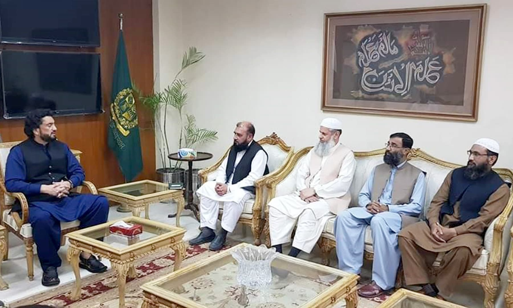 Minister of State for Interior Shehryar Khan Afridi in talks with  ulema and religious scholars.