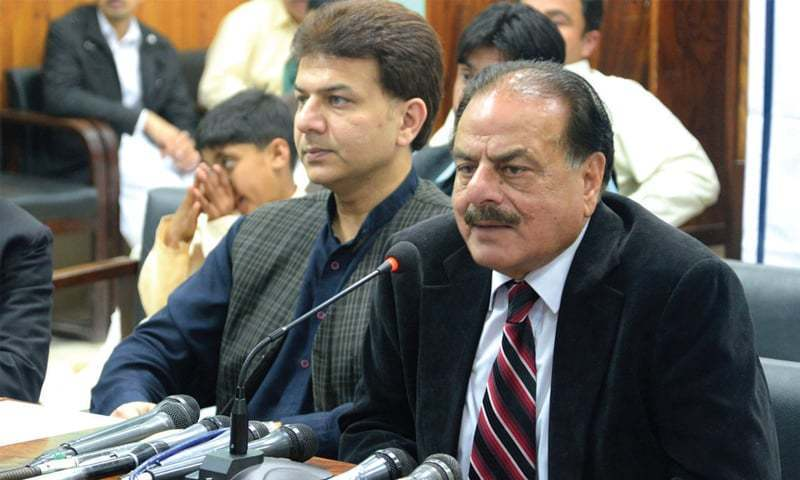 A file photo of late retired General Hamid Gul and his son Abdullah Gull.