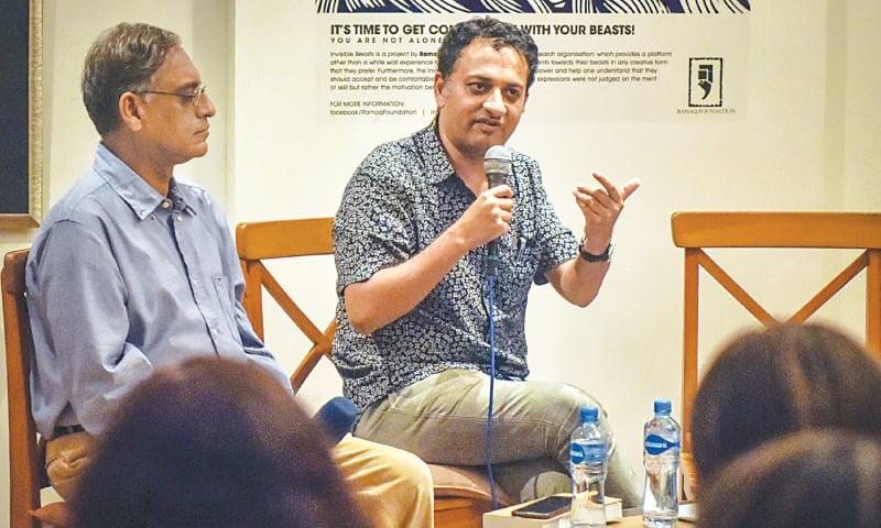 SAIF Mahmood speaks at the event.—White Star