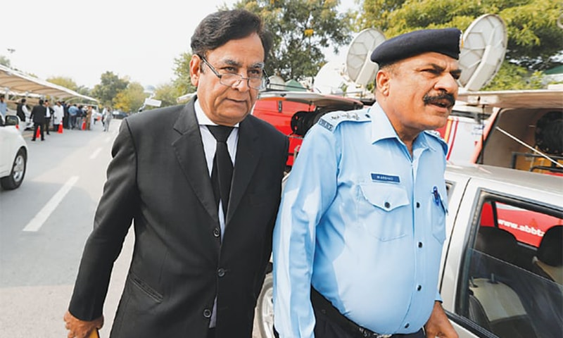 Saiful Mulook, the lawyer for Aasia Bibi, leaves the Supreme Court. — File