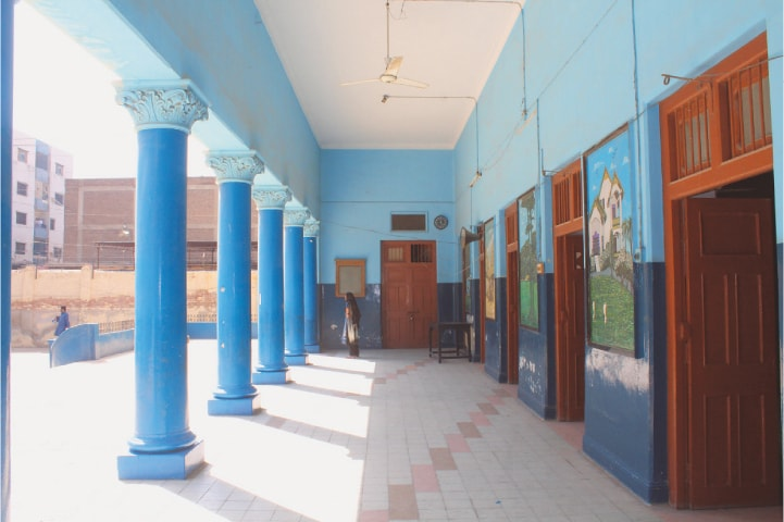 A view of the spacious verandah