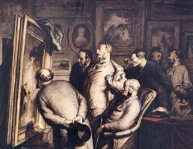 The Critics (1862), Honoré Daumier