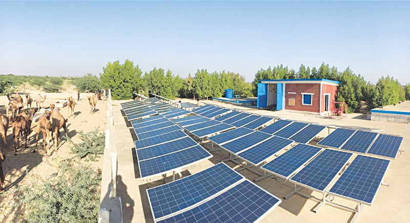 Solar panels installed, near Mithi, in one of the approximately 480 reverse osmosis plants across Tharpakar | White Star