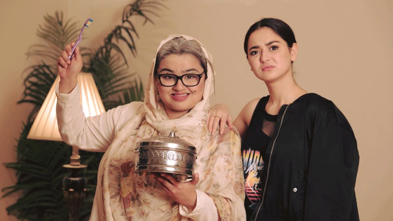 Faiza Saleem with Hania Aamir. Photo: Facebook/FaizaSaleem