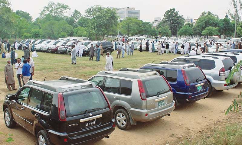 Vehicles are being auctioned in line with federal government's austerity drive. — Photo/File