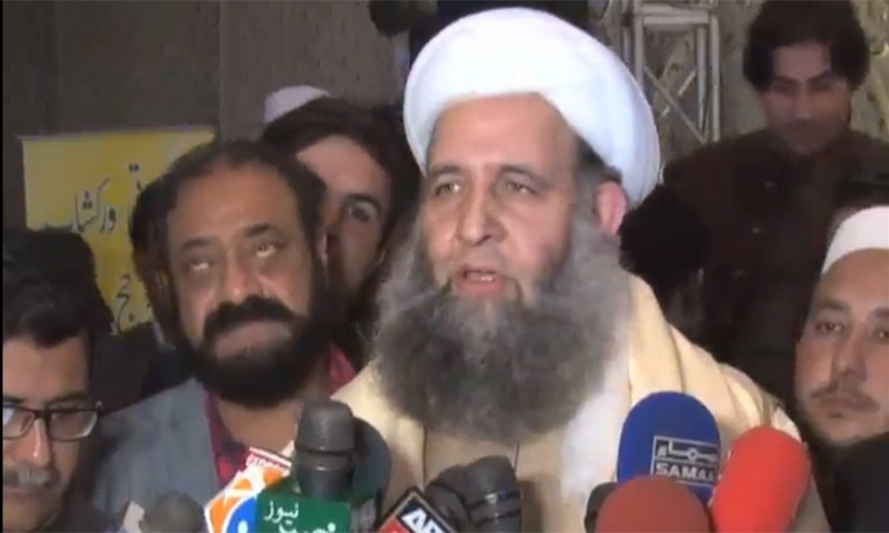Federal Minister for Religious Affairs and Interfaith Harmony Noorul Haq Qadri. — Photo courtesy of DawnNewsTV