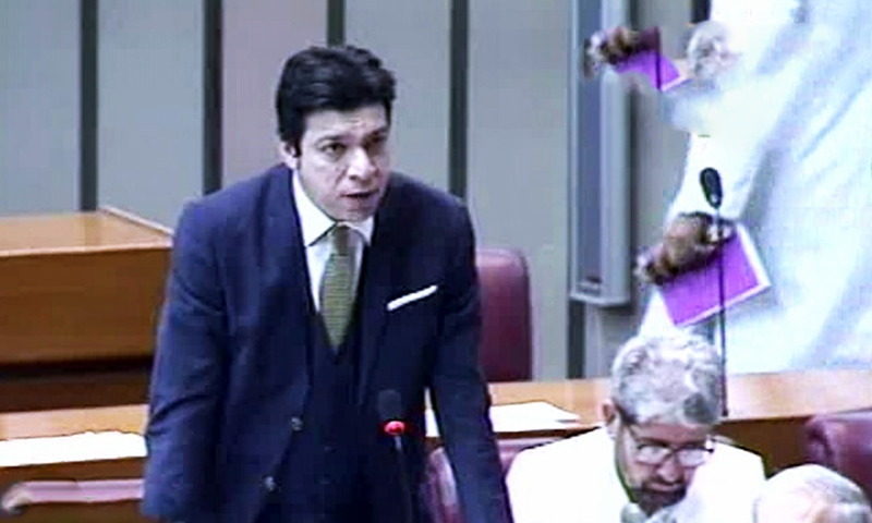 Federal Minister for Water Resources Faisal Vawda tells the National Assembly that the previous government stole water from Sindh by shutting down telemeters on verbal orders. ─ DawnNewsTV