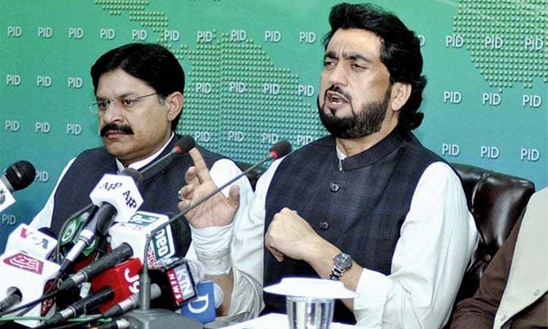 In this file photo, Minister of State for Interior Shehryar Khan Afridi speaks at a press conference in Islamabad. — APP