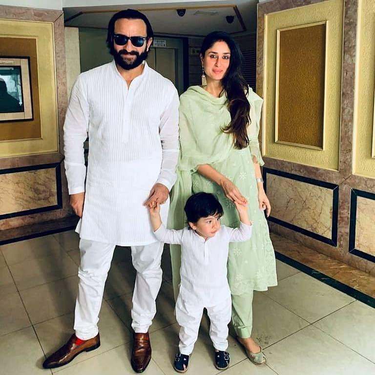 بولی وڈ کے نواب سیف علی خان اور بیگم کرینہ کپور خان نے اپنے بیٹے تیمور کے ہمراہ نہایت خوبصورت ملبوسات میں دیوالی کا جشن منایا—فوٹو/ انسٹاگرام