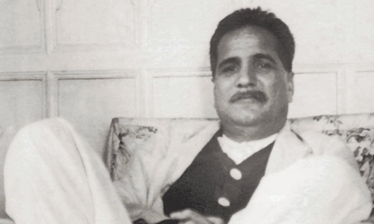 Iqbal relaxing at the residence of his friend Nawab Zulfiqar Ali Khan | Photo courtesy: The Allama Iqbal Collection