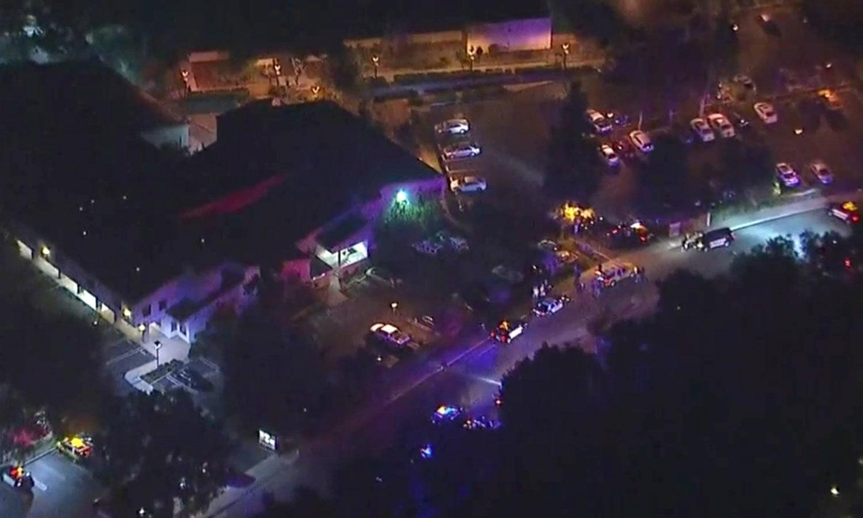 حادثے کے بعد جائے وقوع کی فضا سے لی گئی تصویر — فوٹو: اے پی