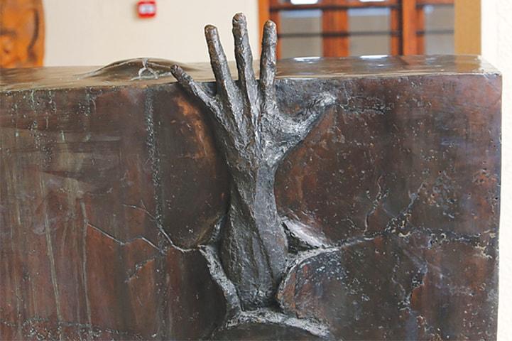 A sculpture by artist Sami Mohammed.—AFP