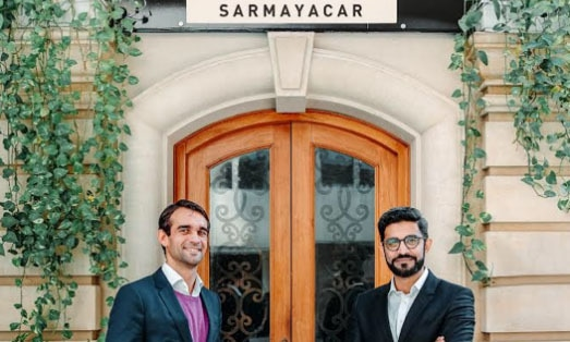 Sarmayacar founder and CEO Rabeel Warraich and his international partner Dr Bernhard Klemen. — Photo courtesy Sarmayacar