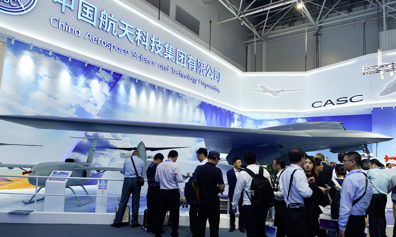 In this November 6 file photo, a model of CH-7 HALE Stealth Unmanned Reconnaissance Aircraft is seen on display at the Airshow China 2018 in Zhuhai, south China's Guangdong province. — AFP