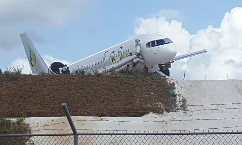 Jamaican plane makes emergency landing in Guyana; six hurt