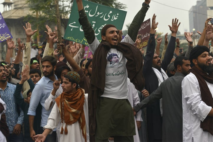 A protester in Lahore | M. Arif/White Star