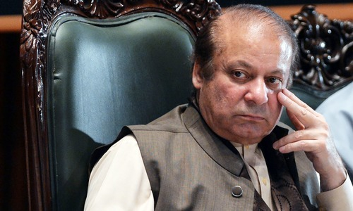 Former prime minister Nawaz Sharif. — File photo