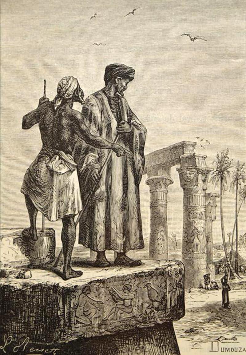 لیون بینیٹ کی 1878ء میں بنائی گئی ابنِ بطوطہ کی پینٹنگ، جس میں انہیں مصر میں دکھایا گیا ہے — پبلک ڈومین
