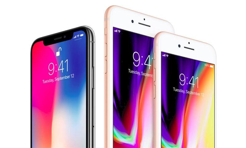 آئی فون ایکس، آئی فون 8 اور 8 پلس — فوٹو بشکریہ ایپل