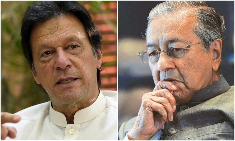 PM Khan and Malysian premier Mahathir Mohammad had also held a telephonic discussion last month. — Photo: Dawn.com