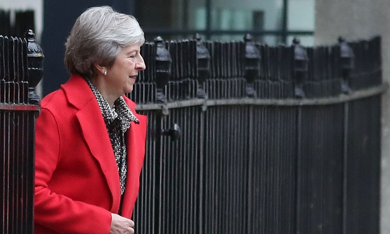 Britain's Prime Minister Theresa May leaves 10 Downing Street in central London on November 16, 2018. — AFP