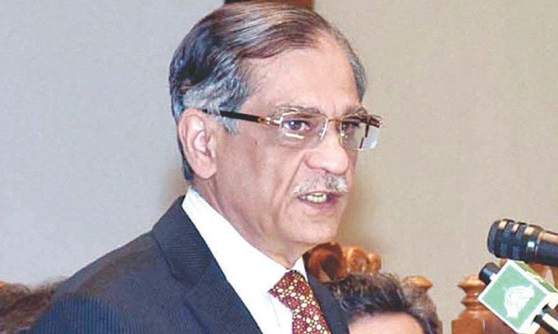 Chief justice berated Hussain Naqi today for raising voice in court. — File
