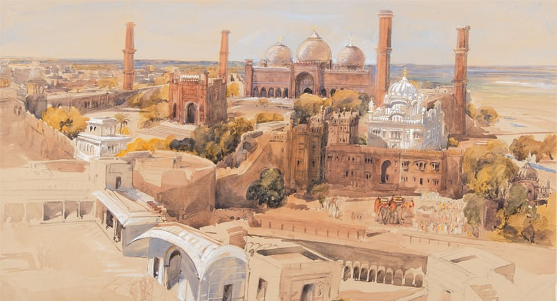 Charlotte Canning's painting of Lahore | Pictures from the book
