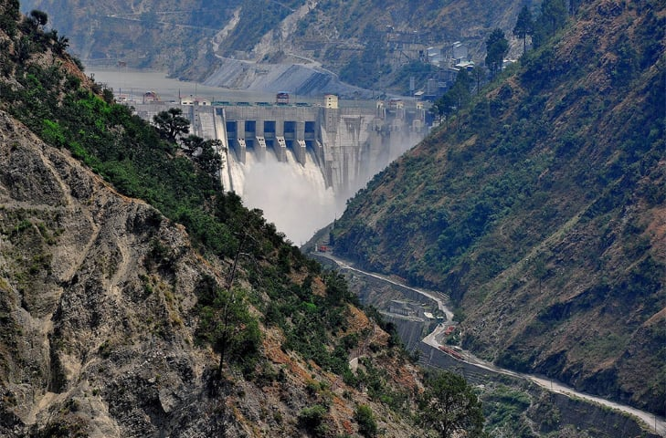 The Baglihar Dam is similar in design to India's design for the Kishanganga Project featuring low-level outlets | ICIMOD