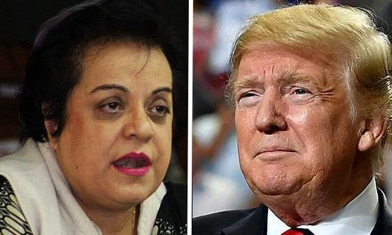 Minister for Human Rights Dr Shireen Mazari took to Twitter to respond to Trump's remarks in an interview.