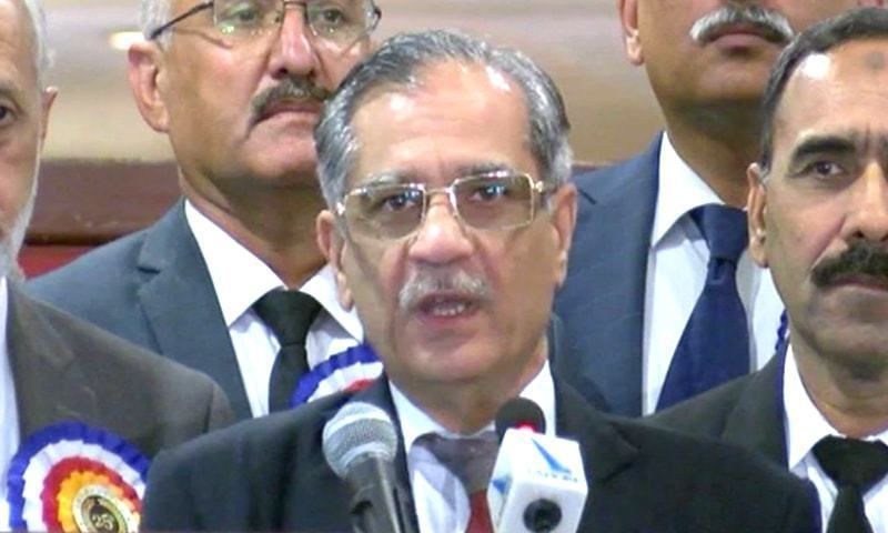 A delegation of senior journalists on Monday conveyed concern of the entire journalist community to Chief Justice of Pakistan (CJP) Mian Saqib Nisar over his remarks about veteran journalist Hussain Naqi during hearing of a case pertaining to Punjab Healthcare Commission's board of commissioners the other day. — File photo