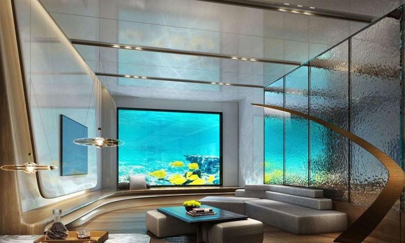 ہوٹل کی 2 منزلیں زیر سمندر ہیں—فوٹو: زنوا
