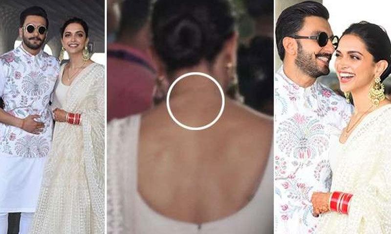 شادی کے بعد اداکارہ کی سامنے آنے والی تصاویر میں ٹیٹو دکھائی نہیں دیا—فوٹو: فلم فیئر