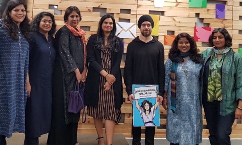 Outrage in India over picture of Twitter CEO holding 'Brahminical