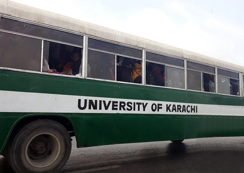 کراچی یونیورسٹی کی پوائنٹ بس