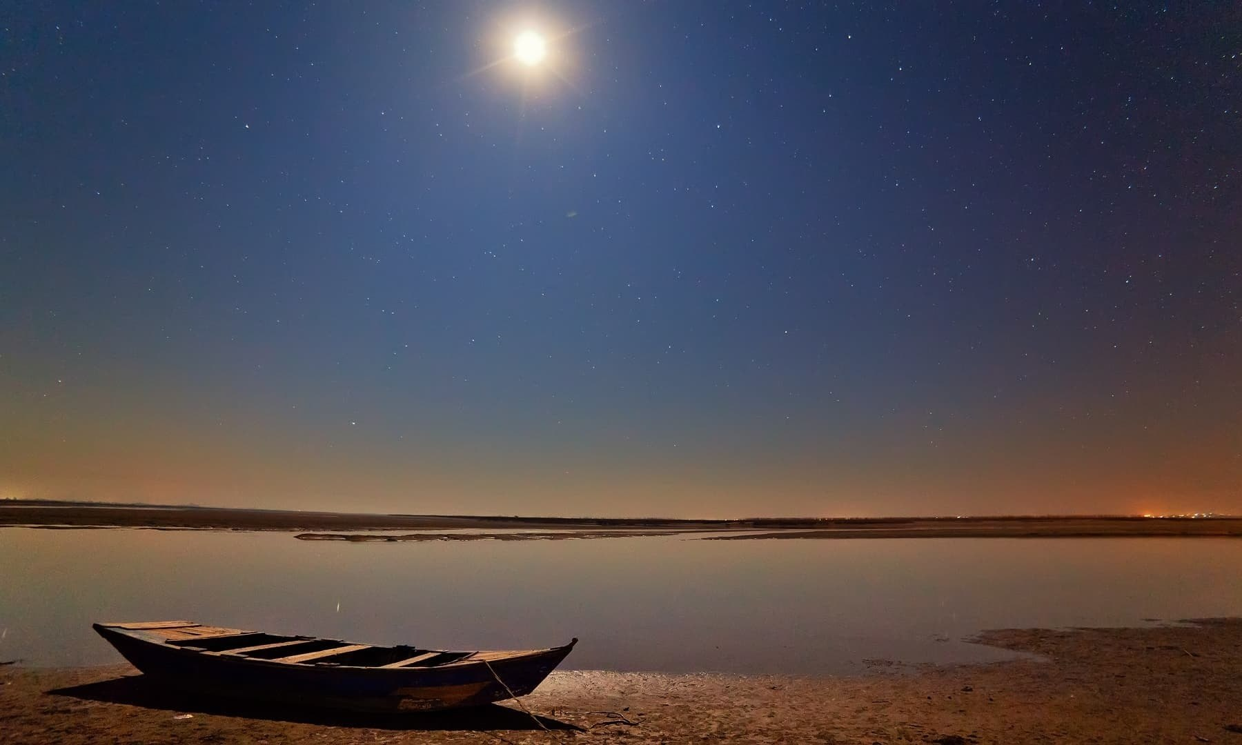 River Chenab at midnight. — S.M.Bukhari