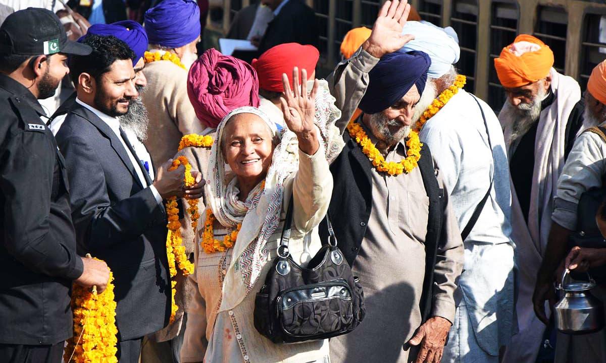 Sikh pilgrims arrive in Pakistan for Baba Guru Nanak's 549th birth anniversary celebrations. —APP