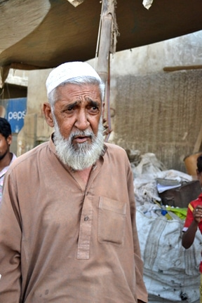 Chacha owns a small storage space in Mujahid Colony where he stores and recycles scrap.
