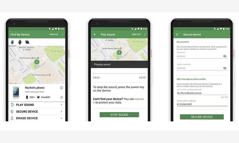 گمشدہ فون تلاش کرنے کے لیے گوگل کی ایپ اب زیادہ مددگار