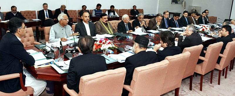 ISLAMABAD: Finance Minister Asad Umar is chairing the ECC meeting on Thursday.—APP